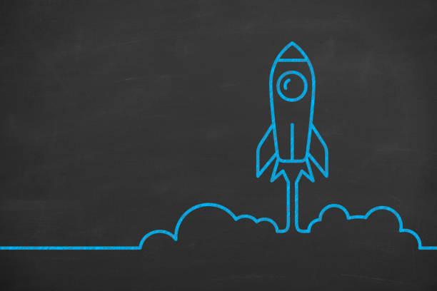 Raketensymbol startet von Bodenstartkonzepten – Foto