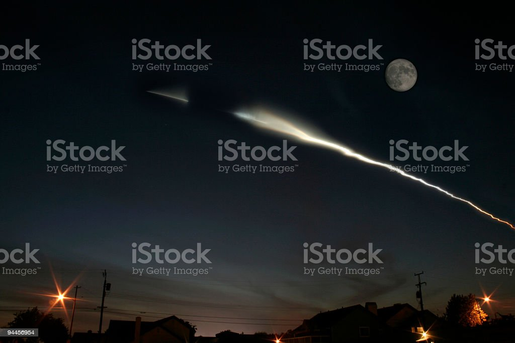 Rocket igniting Stage Two royalty-free stock photo