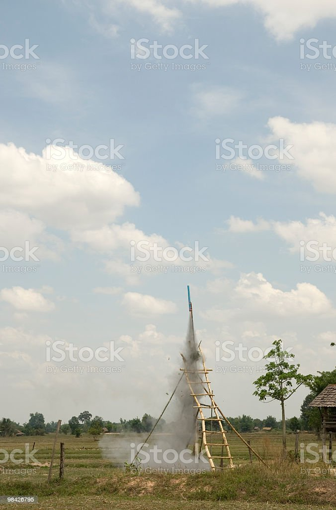 rocket in thailand royalty-free stock photo