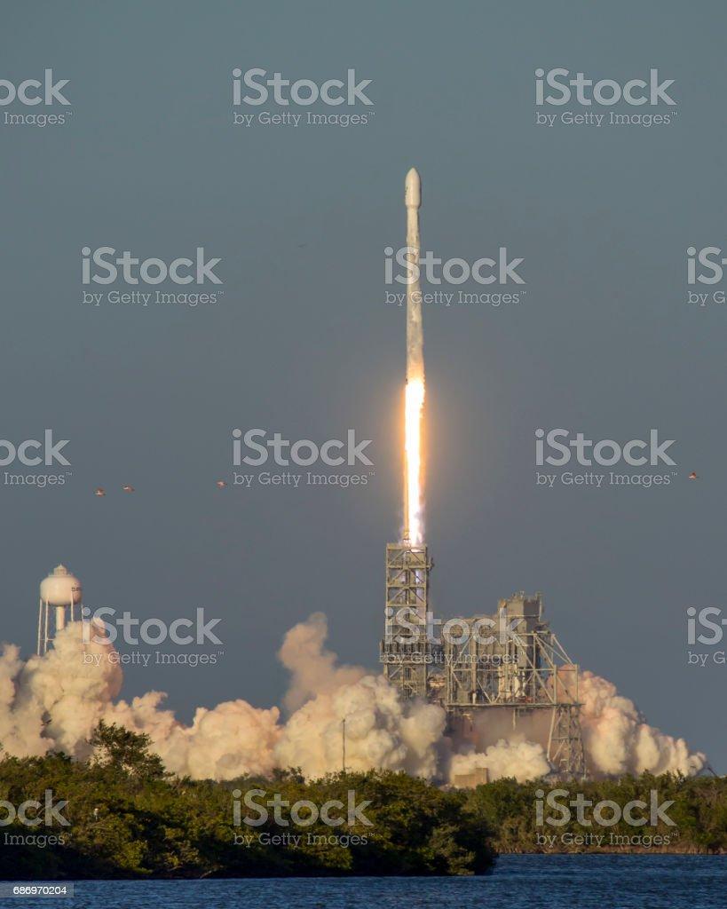 Rocket Launch stock photo