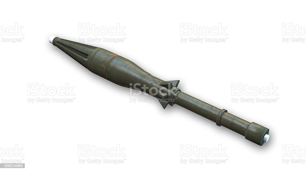 RPG Rocket Launcher on white background stock photo
