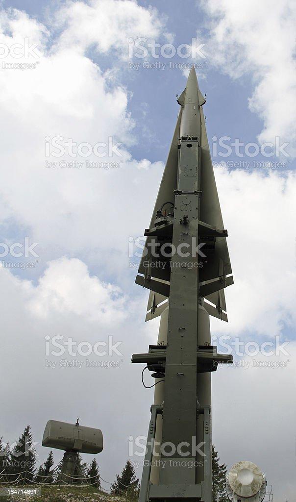 rocket military ready to go stock photo