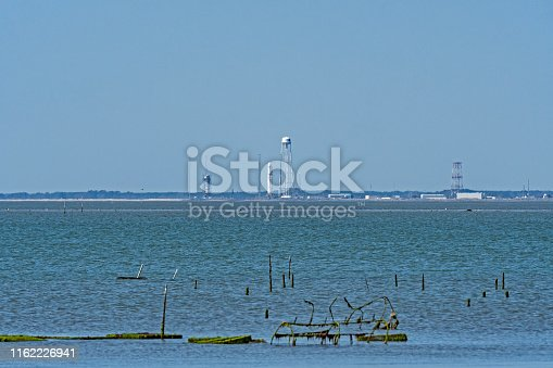 istock Rocket on the Pad for a Space Launch 1162226941