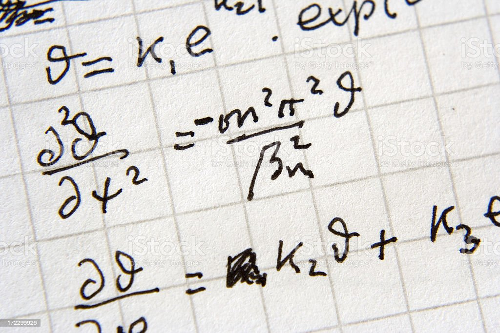 Rocket science! (real math) royalty-free stock photo