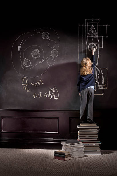 rocket science schoolgirl little girl discovers rocket science child prodigy stock pictures, royalty-free photos & images