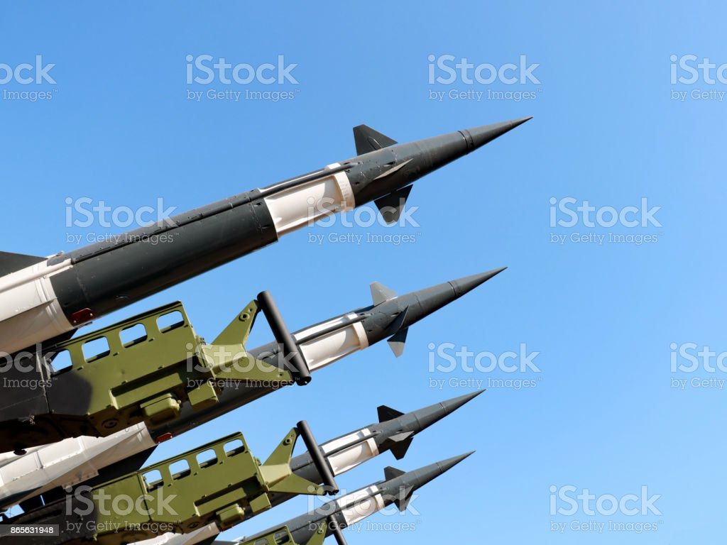 Rocket system S-125M  Neva-M stock photo
