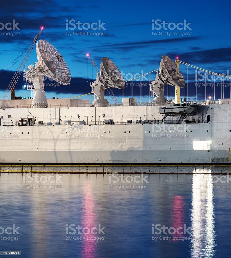 Rocket Tracking Vessel stock photo