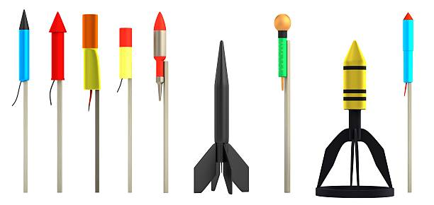 rockets - petard stock photos and pictures