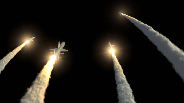 Rockets take off rockets take off 3d illustration military attack stock pictures, royalty-free photos & images