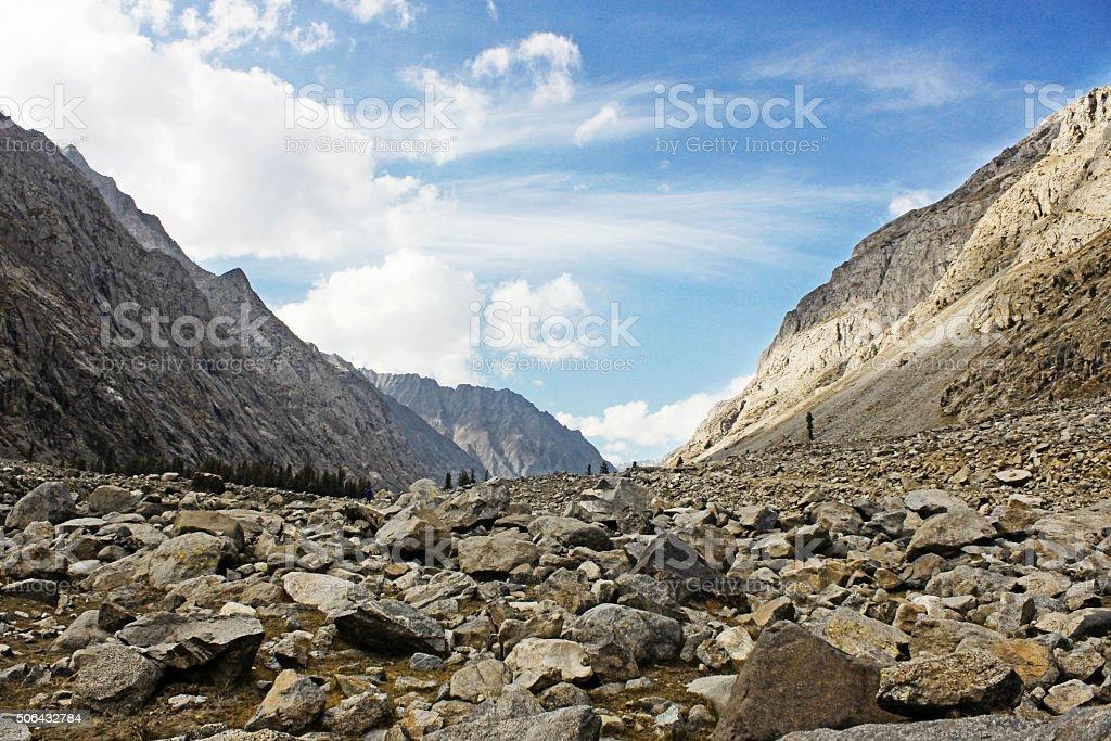 Rockey Landscape with blue sky stock photo