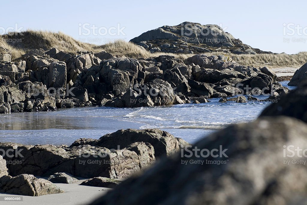 Rock-face royalty-free stock photo