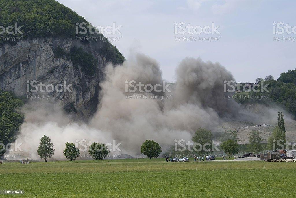 rockfall stock photo