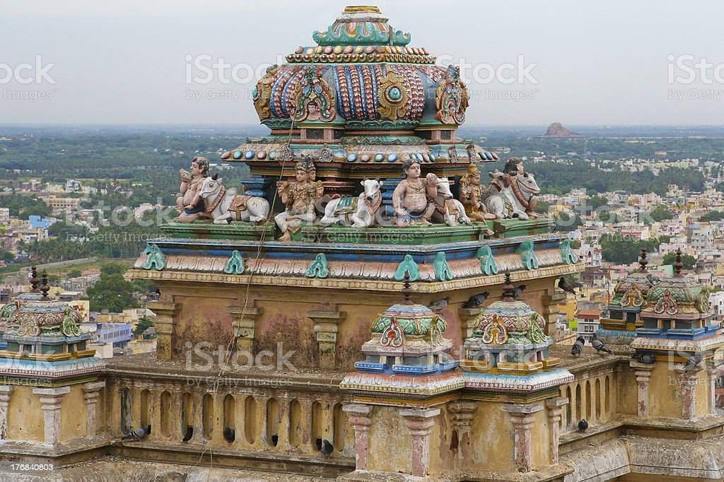Rockfort Temple in Trichy, Tamil Nadu royalty-free stock photo