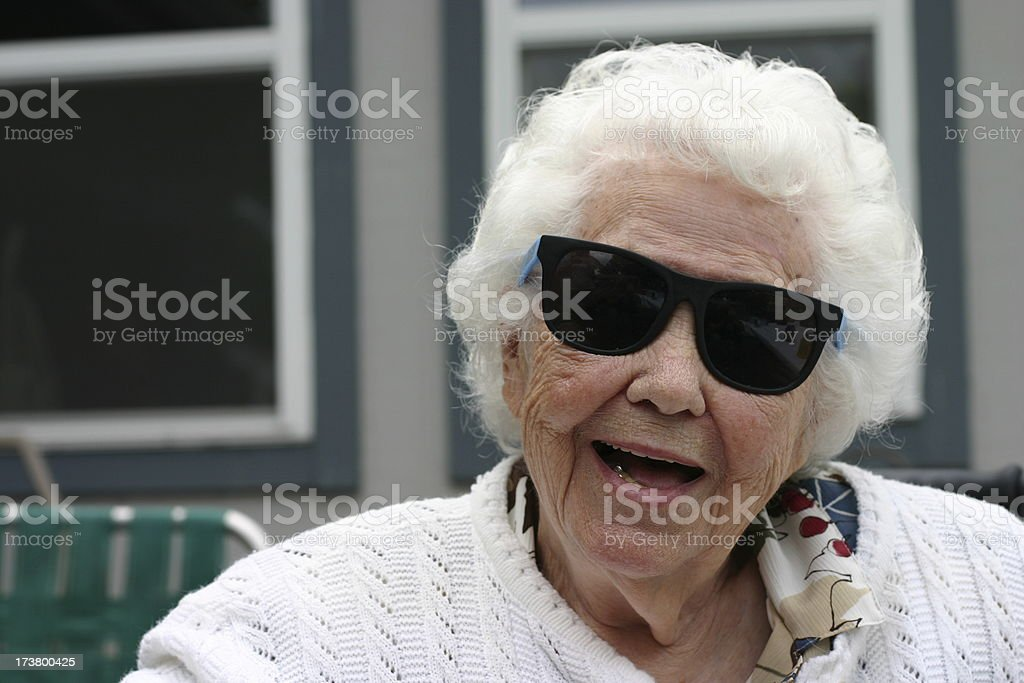 Rockin Grandma! royalty-free stock photo