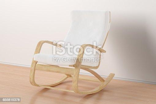 istock Rocking chair in bright interior. 655815378