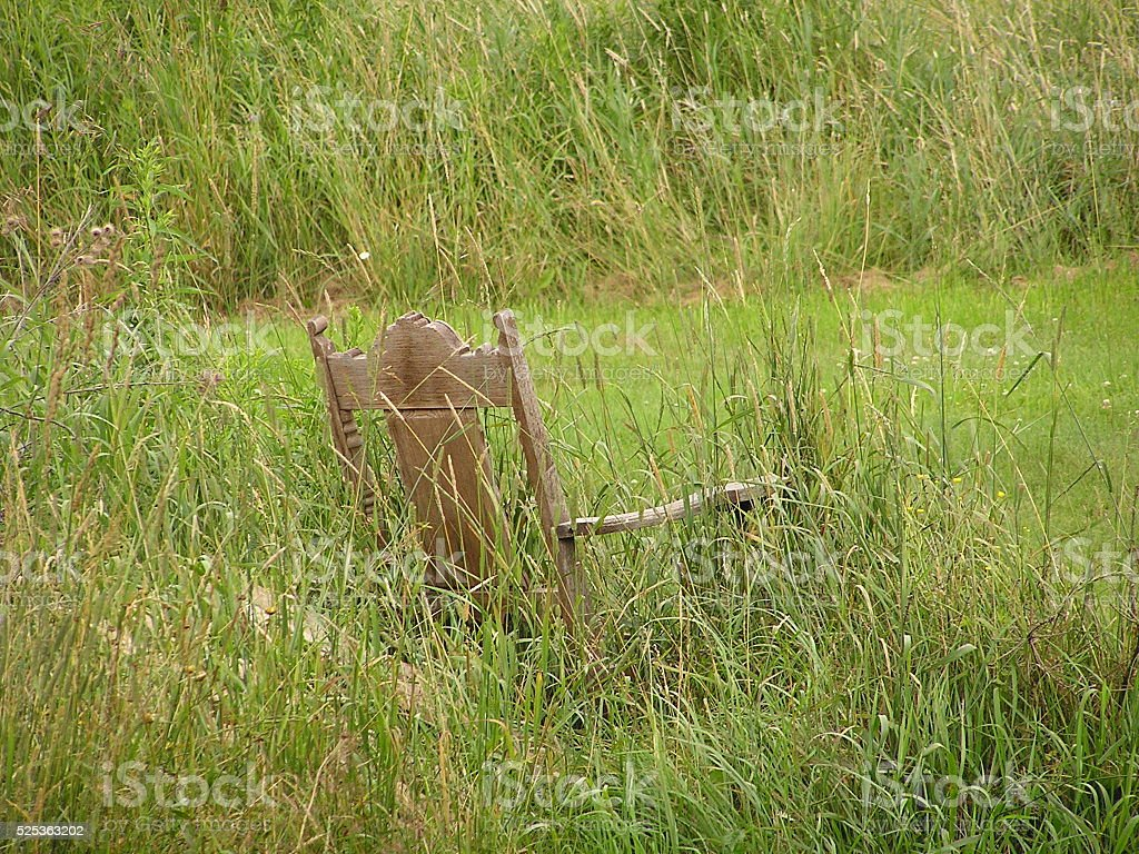 Rocking Chair In Tall Grass Stock Photo Download Image Now
