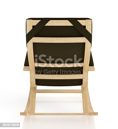 istock Rocking chair isolated on white background. 655818808