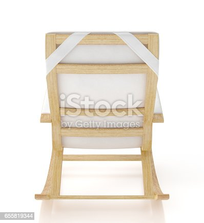 istock Rocking chair isolated on white background. 655819344