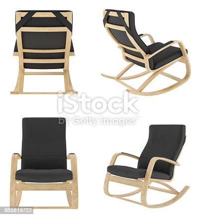 istock Rocking chair isolated on white background. 655819722