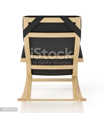 istock Rocking chair isolated on white background. 655819978
