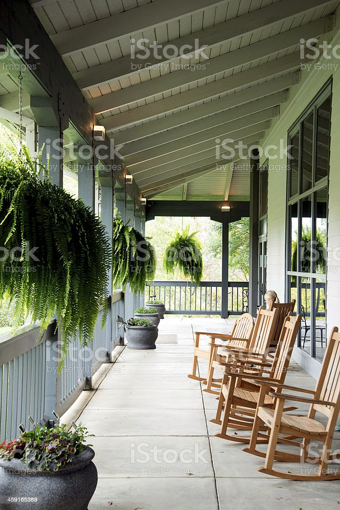 Rocking Chair Porch Royalty Free Stock Photo