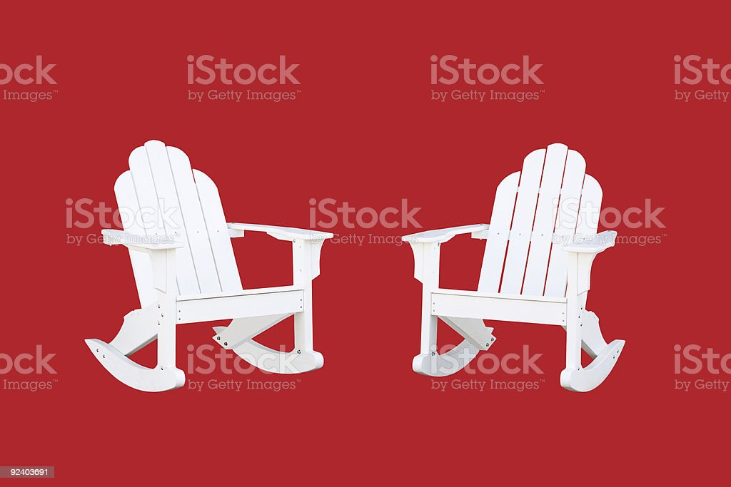 Rocking Chairs royalty-free stock photo