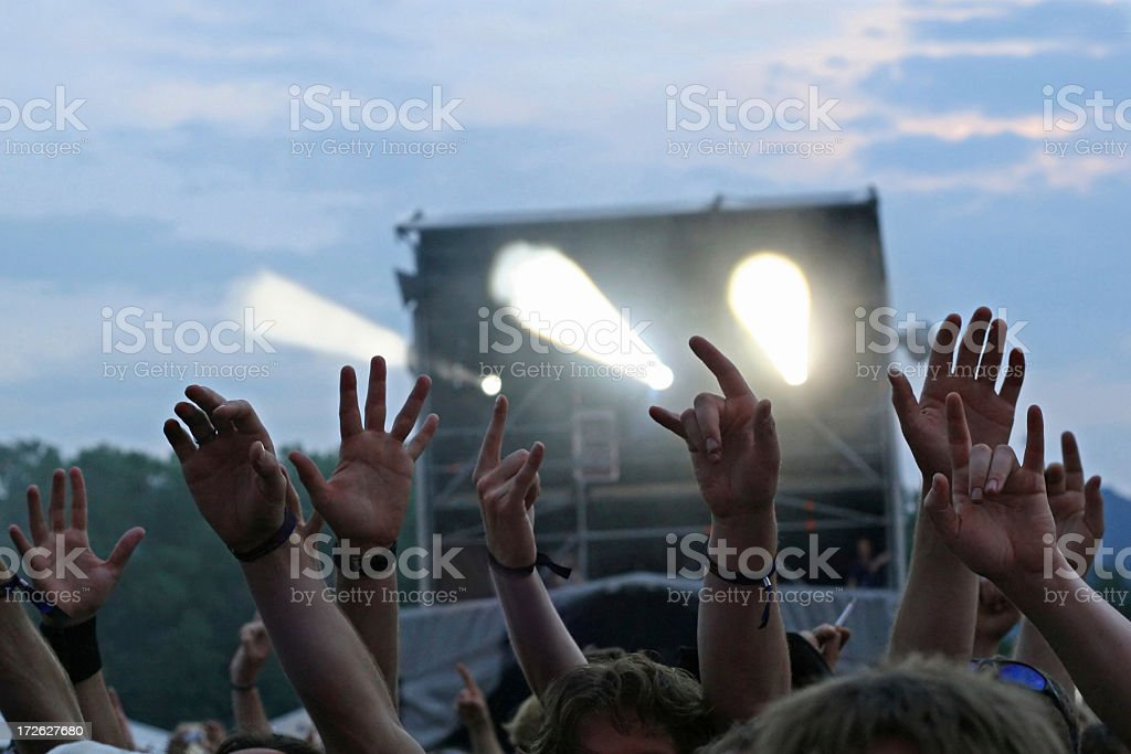 Rocking crowd royalty-free stock photo