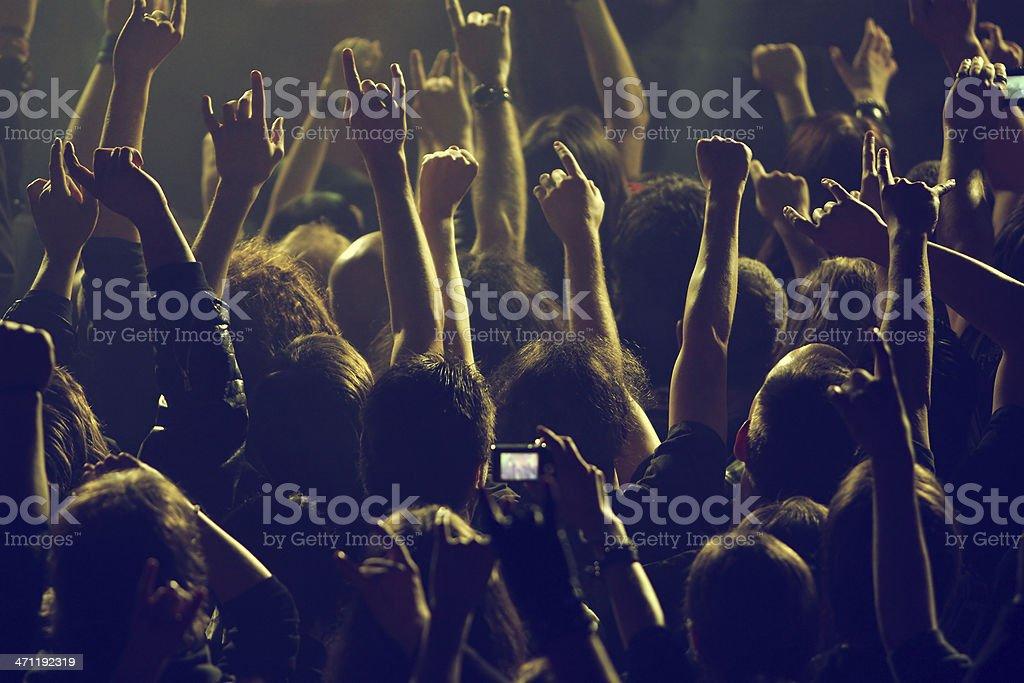 Rocking crowd stock photo