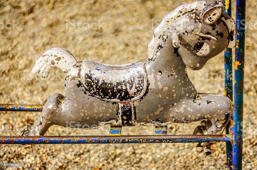 Rocking horse stock photo