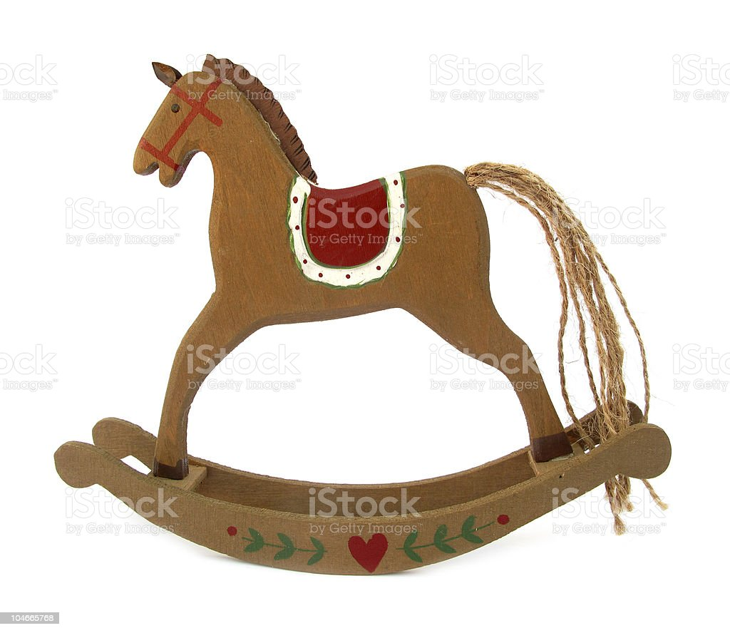 Rocking horse wooden toy royalty-free stock photo