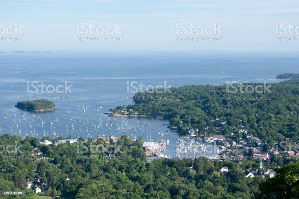Rockland Harbor Maine stock photo
