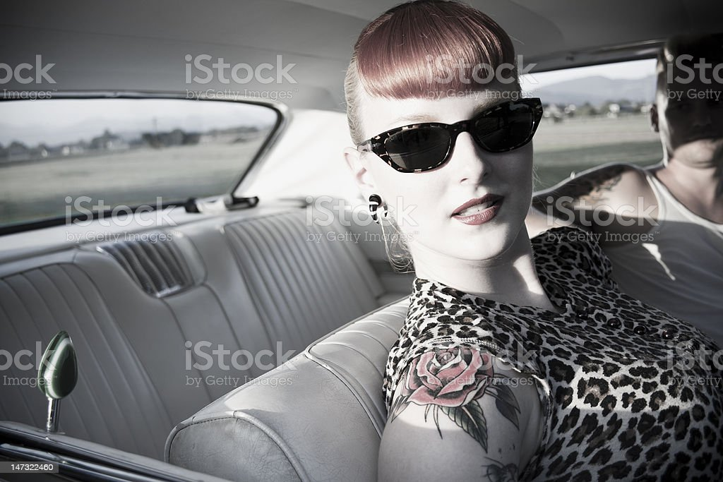 rock'n'roll chick royalty-free stock photo
