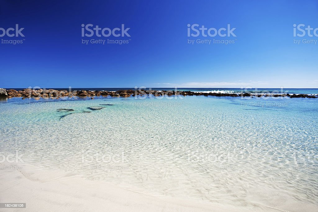Rockpool at stokes bay, Kangaroo Island stock photo