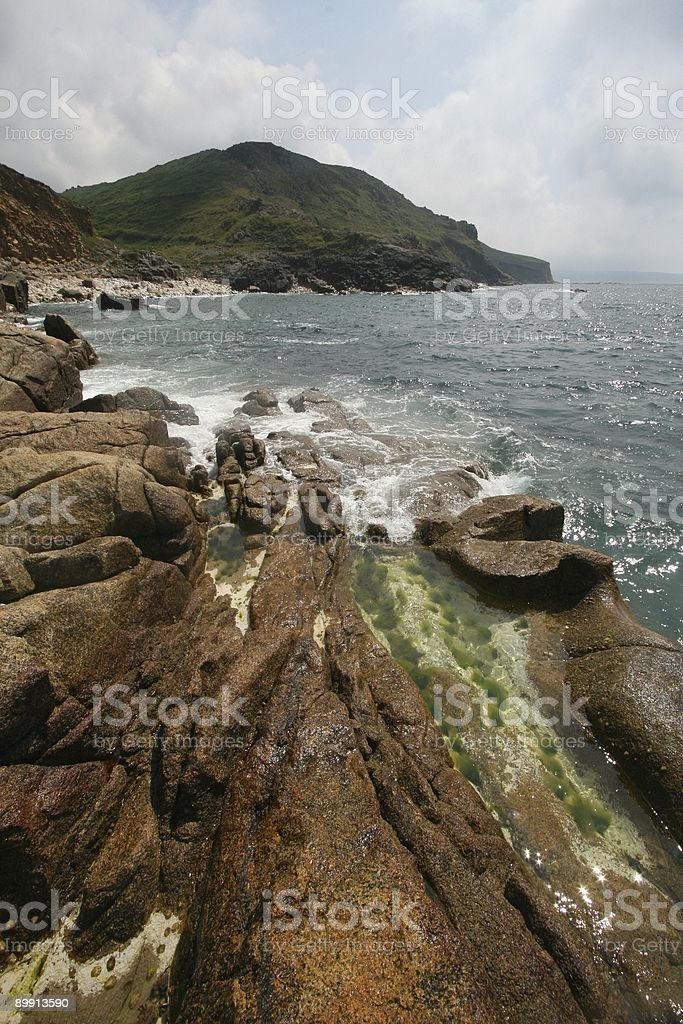 Rockpools and coast royalty-free stock photo