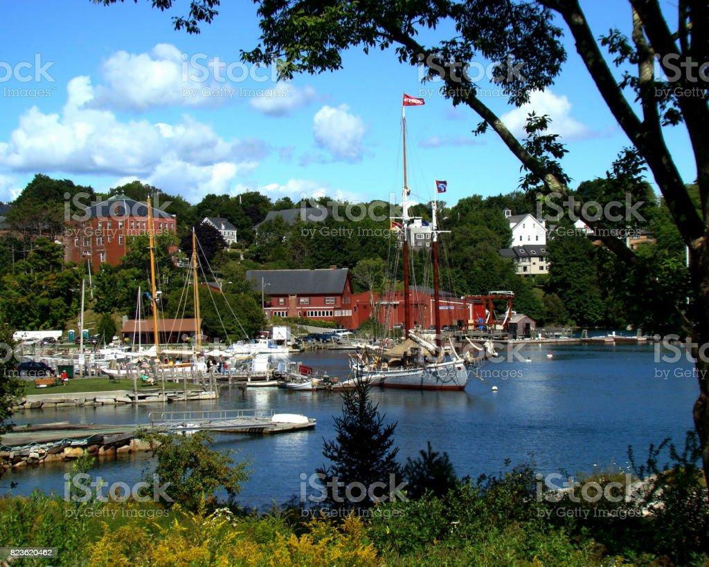 Rockport Harbor stock photo