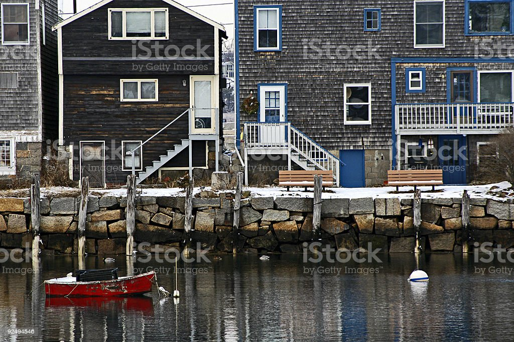 Rockport waterfront royalty-free stock photo
