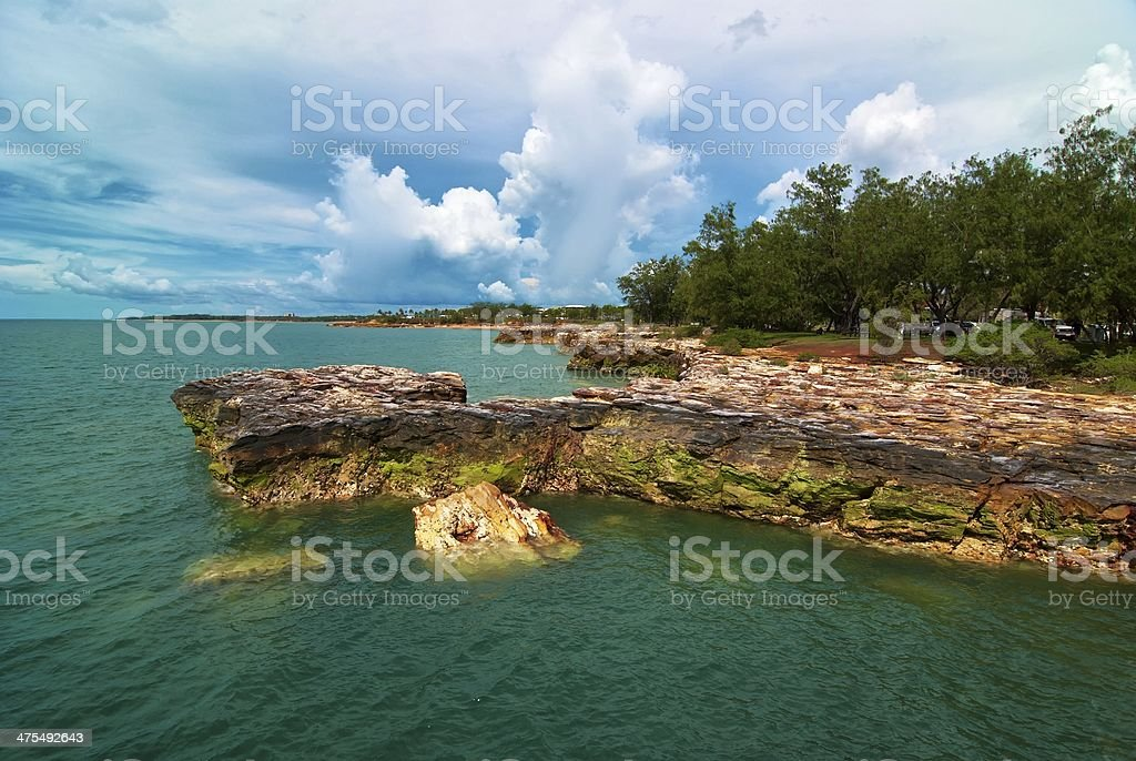 Rocks and clouds Darwin stock photo