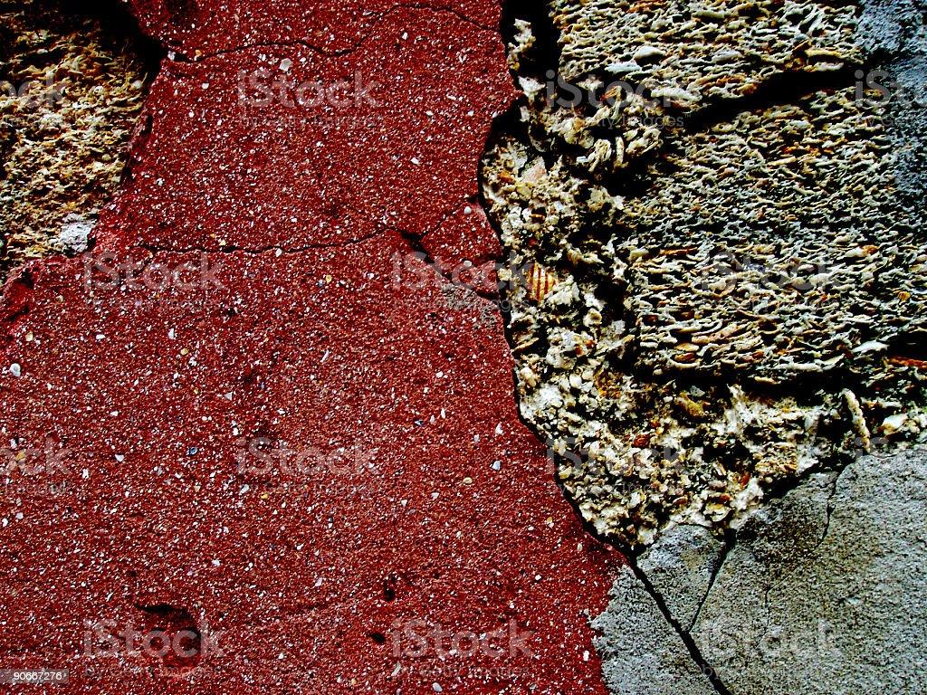 Rocks and cracks royalty-free stock photo