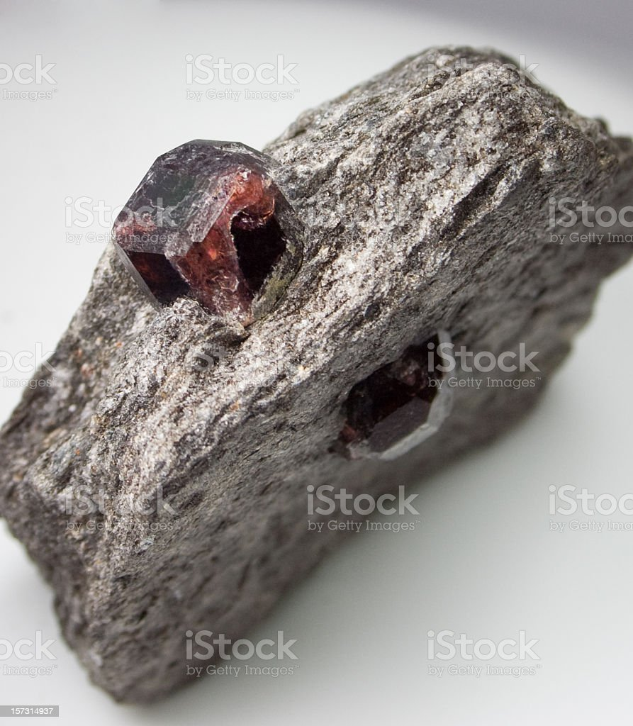 Rocks and Minerals - Garnet stock photo