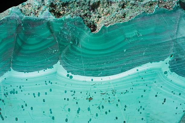 rocks and minerals - malachite - malachiet stockfoto's en -beelden