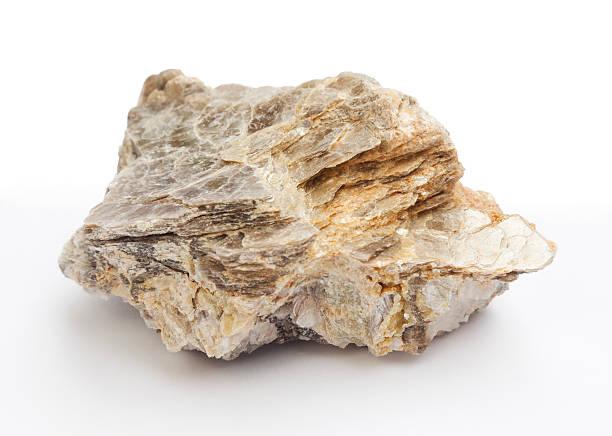 kamieni i minerałów-mika - łupek łyszczykowy zdjęcia i obrazy z banku zdjęć