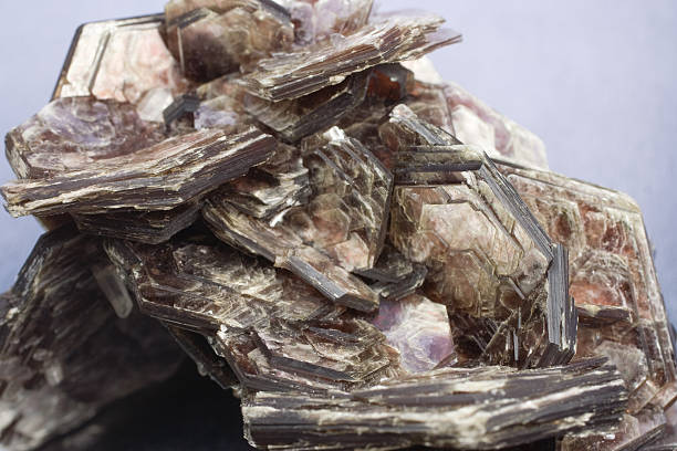 kamieni i minerałów-muscovite - łupek łyszczykowy zdjęcia i obrazy z banku zdjęć