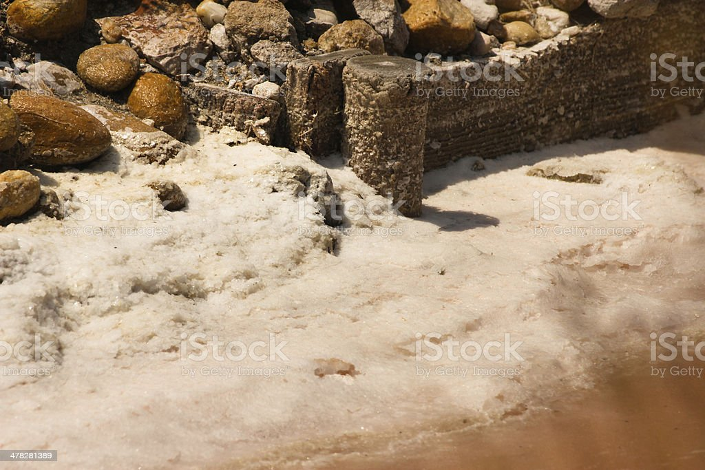 Rocks and salt royalty-free stock photo