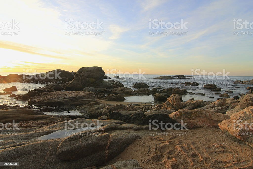 Rocks and sand royalty-free stock photo