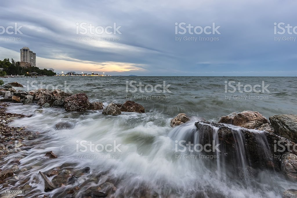 Rocks and sea  The natural landscape royalty-free stock photo