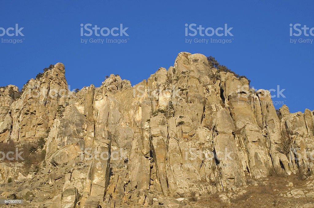 rocks and sky stock photo