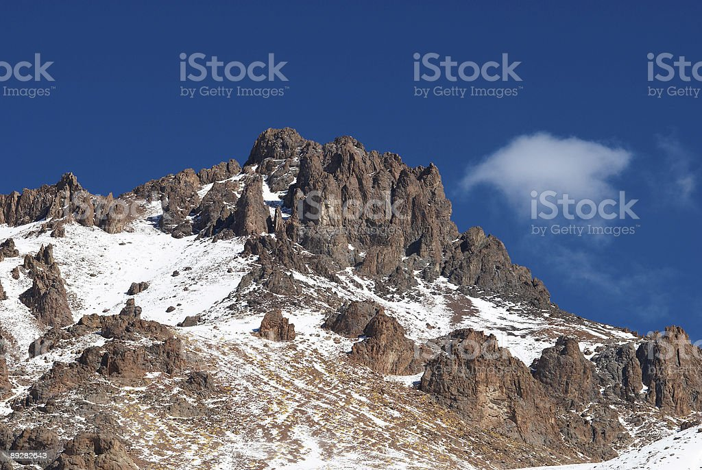 Rocks and small cloud royalty-free stock photo