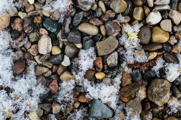 Rocks and Snow stock photo