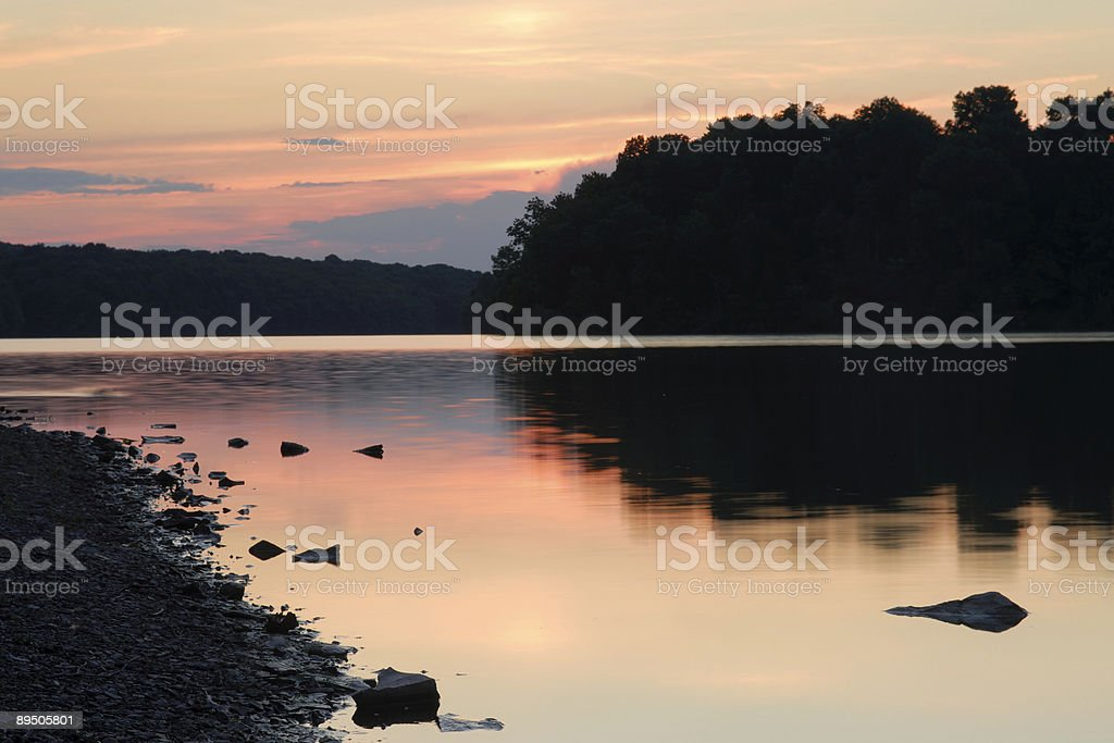 Rocks and Tree Lines royalty-free stock photo