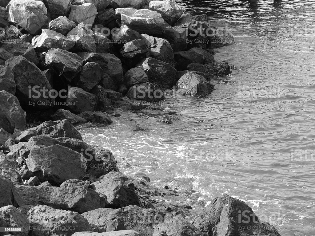 Rocks and water royalty-free stock photo